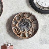 Fairbank Polished Nickel Wall Clock Silver