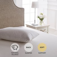 Dorma Luxurious White Goose Down Soft-Support Pillow White