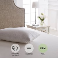 Dorma Luxurious White Goose Down Firm-Support Pillow White
