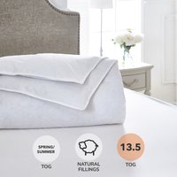 Dorma Luxurious White Goose Down 13.5 Tog Duvet White