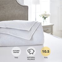 Dorma Luxurious White Goose Down 10.5 Tog Duvet White