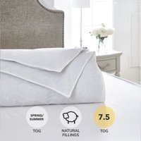 Dorma Luxurious White Goose Down 7.5 Tog Duvet White