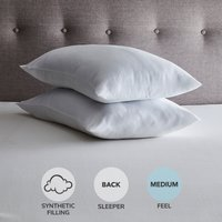 Fogarty Soft and Cosy Medium-Support Pillow Pair White