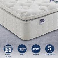 Silentnight Medium Firm Miracoil Memory Pillowtop Mattress White