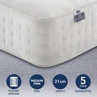 Silentnight Medium Firm 2800 Pocket Natural Orthopeadic Mattress White