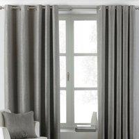 Atlantic Grey Eyelet Curtains Grey