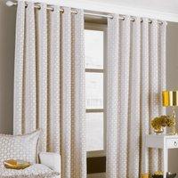 Belmont Beige Eyelet Curtains Beige
