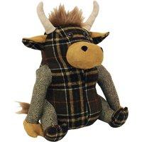 image-Highland Cow Doorstop Brown