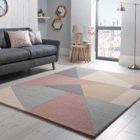 Harper Pastel Wool Rug Pink, Beige and Grey