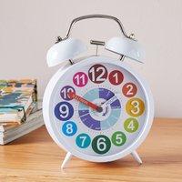 image-Tell The Time 18cm Alarm Clock Multi White