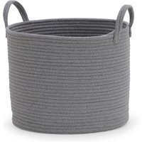 image-Cotton Rope Grey Storage Basket Grey