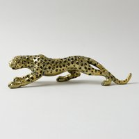 image-Gold Cheetah Ornament Gold