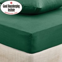 Non Iron Plain Fitted Sheet Green