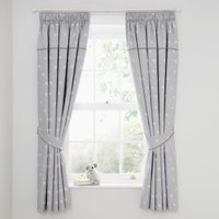 Tiny But Mighty Blackout Pencil Pleat Curtains Grey