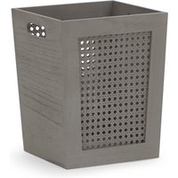 image-Cane Paper Grey Waste Paper Basket Grey