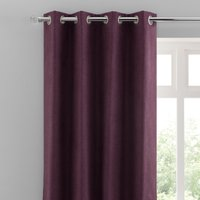 Luna Brushed Grape Blackout Eyelet Curtains Purple