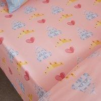 Disney Princess Fitted Sheet Pink