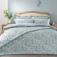 image-Imogen Seafoam Jacquard Bedspread Blue