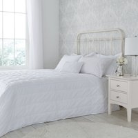 image-Antique Lace Embellished White Bedspread White