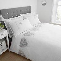 Eliza White Duvet Cover and Pillowcase Set White