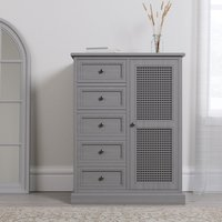 image-Lucy Cane Grey Compact Wardrobe Grey