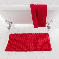 image-Pebble Red Bath Mat Red