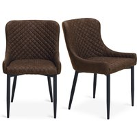 Montreal Set of 2 Dining Chairs Brown
