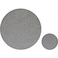 Set of 4 Silver Glitter Placemats and Coasters Silver