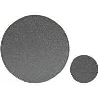 Set of 4 Glitter Placemats and Coasters Charcoal