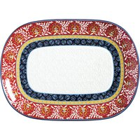 Maxwell and Williams Boho Oblong Serving Platter Red, Blue and Yellow