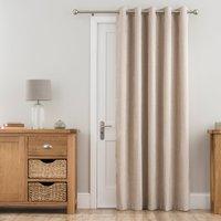 Chenille Cream Thermal Eyelet Door Curtain Cream