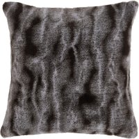 image-Marble Charcoal Faux Fur Cushion Charcoal