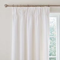 Vermont White Pencil Pleat Curtains White