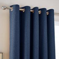 Jennings Navy Thermal Eyelet Curtains Navy Blue