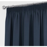 Tyla Navy Blackout Pencil Pleat Curtains Navy Blue