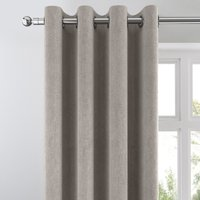 Cloudmont Chenille Dove Grey Thermal Eyelet Curtains Grey