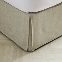 Vermont Oatmeal Pleated Valance Natural