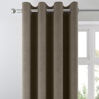 Ohio Charcoal Woven Thermal Eyelet Curtains Charcoal