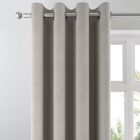 Ohio Silver Woven Thermal Eyelet Curtains Silver