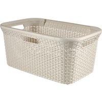 Curver 45 Litre Rattan Laundry Basket Cream
