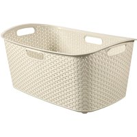 image-Curver My Style Cream 50 Litre Laundry Basket Cream