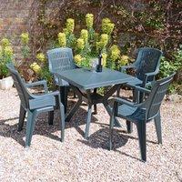 Trabella 4 Seater Seat Dining Set Green