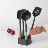 Brabantia Colour Kitchen Utensils with Utensil Holder Grey