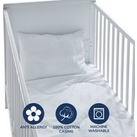 Fogarty Little Sleepers Anti-Allergy 7 Tog Cot Bed Duvet and Pillow Set White