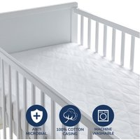 image-Fogarty Little Sleepers Forever Fresh Antibacterial Mattress Protector White