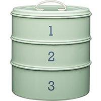 3 Tier Metal Green Cake Tin Green