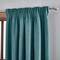 Jennings Peacock Thermal Pencil Pleat Curtains Blue