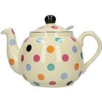 London Pottery Spotted Farmhouse Teapot Cream