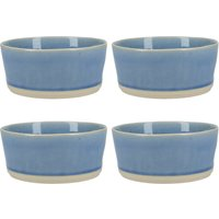 Mikasa Curacao Set of 4 Cereal Bowls Blue and Beige