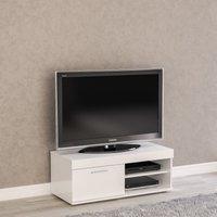 image-Edgeware Small TV Stand White